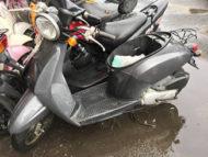 お客様バイクお持ち込みにてホンダ トゥデイ50(ガンメタ)を無料引き取り処分と廃車