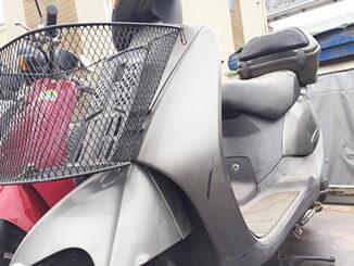 福生市で無料引き取りと廃車した原付バイク リード100(グレー)