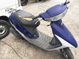 千葉市稲毛区で無料引き取りしたホンダ スーパーDio(紫色)