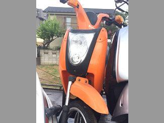 船橋市三咲町で無料で引き取りと廃車した電動バイク プロッツァのミレット(オレンジ)