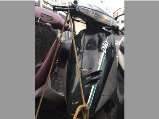 大田区東雪谷2丁目で無料で引き取りしたホンダ スーパーDio(ブラック)