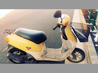 大田区大森西1丁目で無料で引き取りしたホンダ Dio FIT(黄色・前カゴ付)
