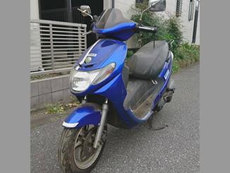 千葉県白井市七次台2丁目で無料で引き取りしたスズキ アドレス110 ブルー