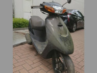 横浜市緑区三保町で原付バイク スズキ レッツ2 黒を無料で引き取り廃車
