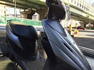 川崎市川崎区で無料引き取りと廃車したスズキ アドレスV50(ブラック)