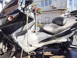東京都足立区花畑のバイク スズキ スカイウェーブ250を無料廃車しました