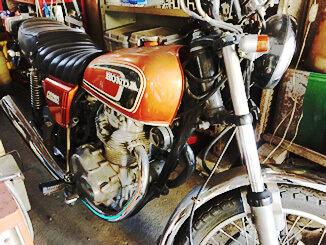 川崎市高津区で無料引き取りしたバイク ホンダ CB250(オレンジ)