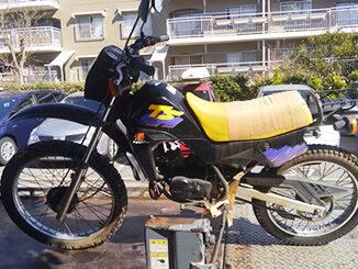 千葉県習志野市で無料で引き取り処分したホンダ TS50(黒色)