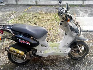 川崎市幸区/神奈川県で無料で廃車と処分をしたPGO PMX110 黒