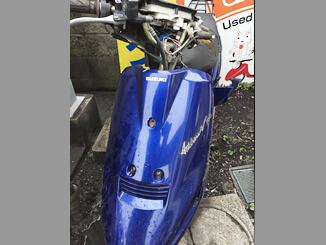 杉並区の原付バイク アドレスV100(ブルー)を無料引き取りと廃車いたしました