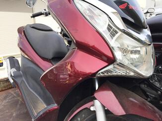 荒川区で無料引き取りと廃車した原付バイク PCX125 レッド色