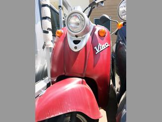 横浜市瀬谷区で無料で引き取り処分と廃車手続き代行をした原付バイクのヤマハ ビーノ50(赤色)