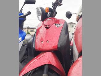 山梨県大月市で無料で引き取りしたホンダ トゥデイDX(赤)