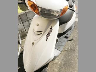 江戸川区船堀で無料で回収処分をしたヤマハ JOG(ホワイト色)