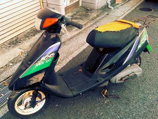 横須賀市久里浜7丁目で無料で引き取りした原付バイクのヤマハ ジョグ(黒)