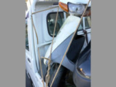いすみ市岬町椎木で原付バイクのスズキ レッツ2 白を無料引き取り処分