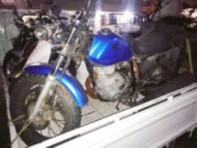 板橋区舟渡2丁目でホンダ FTR223 ブルーを無料引き取り処分