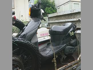 横浜市鶴見区寺谷1丁目で無料で引き取りしたスズキ レッツ2 ブラック色