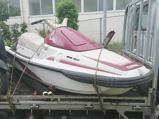 千葉県銚子市春日町で有料で引き取りしたマリンジェット(ヤマハ MJ-650TL) ピンク