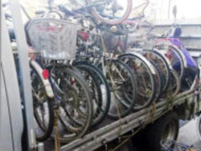 朝霞市栄町3丁目の自転車40台を無料で引き取り処分