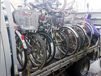 埼玉県朝霞市栄町3丁目で無料で引き取り処分した自転車40台