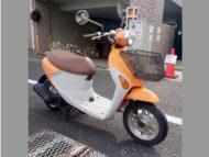 海老名市河原口2丁目で原付バイク レッツ4パレット オレンジ 前カゴ付を無料引き取り