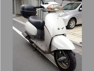 東京都大田区大森北6丁目で有料で引き取りしたホンダ タクト2スト ホワイト