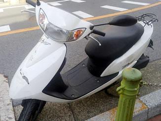 東京都足立区関原3丁目で無料で引き取りしたホンダ Dio4スト 白色