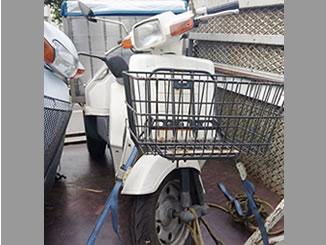 東京都江東区潮見2丁目で無料で引き取りしたホンダ ジャイロ UP 白色 前カゴ付