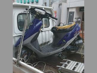 東京都豊島区西池袋4丁目で無料で引き取り・回収したホンダ スーパーDio/AF27 ネイビー