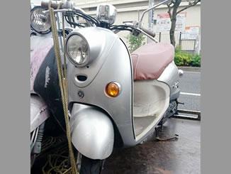 東京都北区豊島8丁目で無料で引き取りと廃車したヤマハ ビーノ4スト シルバー