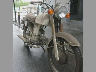 東京都足立区谷中1丁目で無料で引き取りしたホンダ ベンリィ50S 白