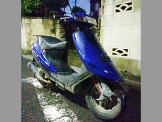 東京都足立区谷在家3丁目で無料で引き取りしたスズキ アドレスV100 ブルー