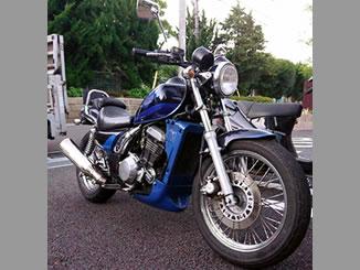 千葉県柏市酒井根2丁目で無料で引き取りしたカワサキ エリミネーター250LX 黒&青