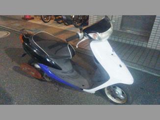 千葉県市川市八幡3丁目で無料で引き取りしたヤマハ JOG-C 黒・白・青