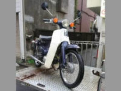 渋谷区円山町でホンダ スーパーカブ50 ブルーを無料で引き取り処分