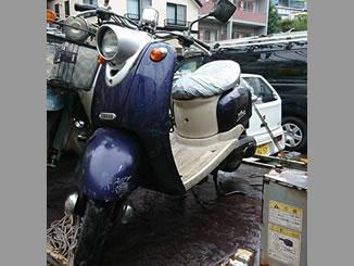 東京都世田谷区池尻2丁目で無料で引き取りしたヤマハ ビーノ2スト ネイビーブルー&白