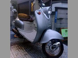 東京都大田区山王3丁目で無料で引き取りをしたヤマハ ビーノ50 2サイクル シルバー色