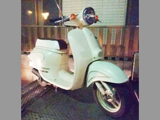 江戸川区平井で無料で引き取りしたホンダ ジョルノ パールホワイト(スペシャルカラー)