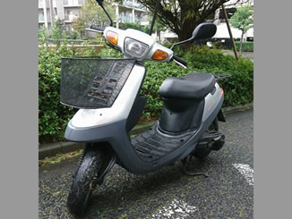 横浜市中区本牧宮原で無料で引き取りをしたヤマハ アプリオ シルバー 前カゴ付き