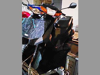 草加市谷塚上町で無料で引き取りと廃車をしたスズキ レッツ2 ブラック 前カゴ付き