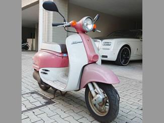 横浜市磯子区森1丁目で無料で引き取りをしたホンダ ジョルノ(A-AF24) 白&ピンク