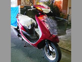 東京都小平市上水本町で無料で引き取り処分と廃車をしたヤマハ JOG(CV50) ダルレッドメタリックD