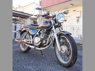 東京都調布市多摩川3丁目で無料で引き取りと廃車をしたスズキ ST250 E-Type グレー&ブラック