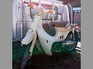 日野市日野で無料で引き取りと廃車をしたホンダ リトルカブ バージンベージュ