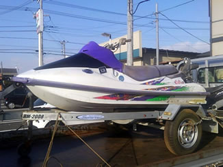 成田市三里塚御料で有料で引き取りをしたジェットスキー カワサキ 750XI