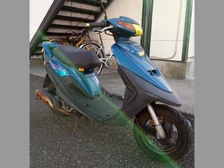 茨城県つくば市春日2丁目で無料で引き取りと廃車をしたヤマハ スーパーJOG ZR ブルーII