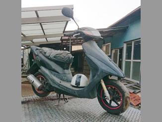 神奈川県横浜市泉区和泉町で無料で引き取りと廃車をしたホンダ ライブDio ZX ブラック