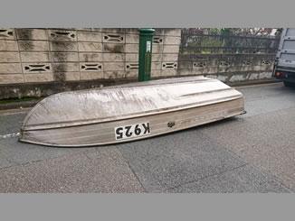 立川市富士見町1丁目で無料で引き取りをしたスタークラフト製アルミボート