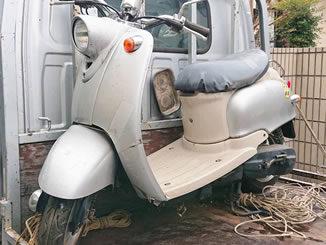 練馬区早宮1丁目で無料で引き取りと廃車をしたヤマハ ビーノ2スト シルバー